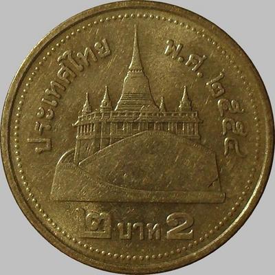 2 бата 2011 Таиланд. Храм Ват Сакет.