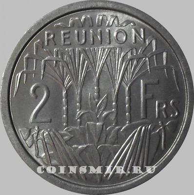 2 франка 1948 остров Реюньон.
