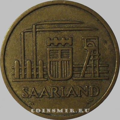 50 франков 1954 Саарленд.