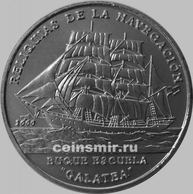 1 песо 2000 Куба. Парусник Галатея.