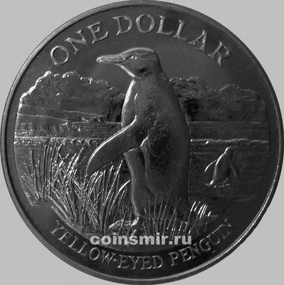 1 доллар 1988 Новая Зеландия. Пингвин.