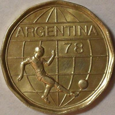 50 песо 1978 Аргентина. Чемпионат мира по футболу.
