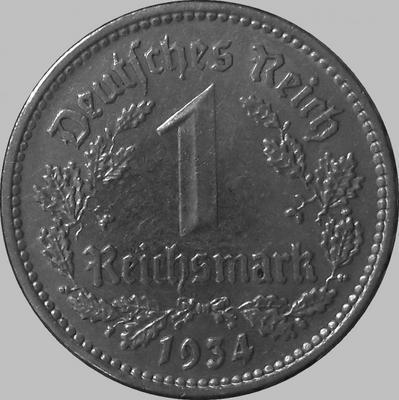 1 марка 1934 J Германия.