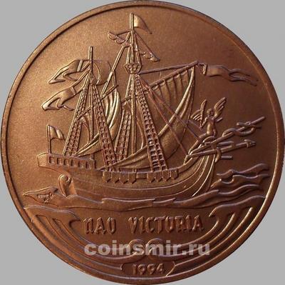 """1 песо 1994 Куба. Парусник """"NAO VICTORIA"""""""
