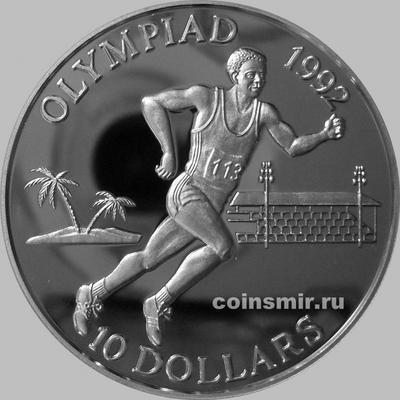 10 долларов 1991 Соломоновы острова. Олимпиада в Барселоне 1992. Бег.