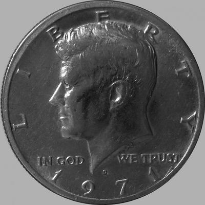 1/2 доллара 1971 D США.
