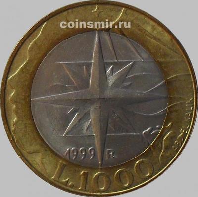 1000 лир 1999 Сан-Марино. Роза ветров.