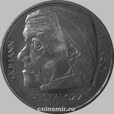 5 франков 1977 Швейцария. Иоганн Генрих Песталоцци.