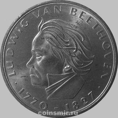 5 марок 1970 F Германия (ФРГ). Людвиг Ван Бетховен.