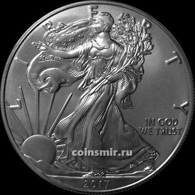1 доллар 2017 США. Шагающая Свобода.