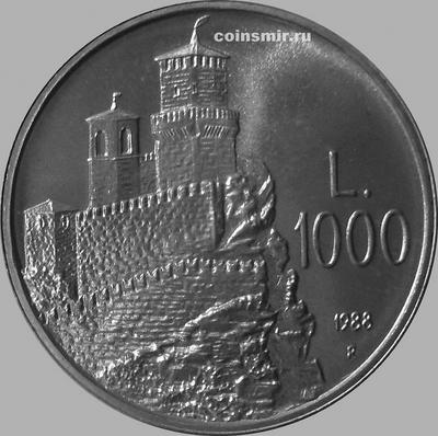 1000 лир 1988 Сан-Марино. Фортификационные сооружения.