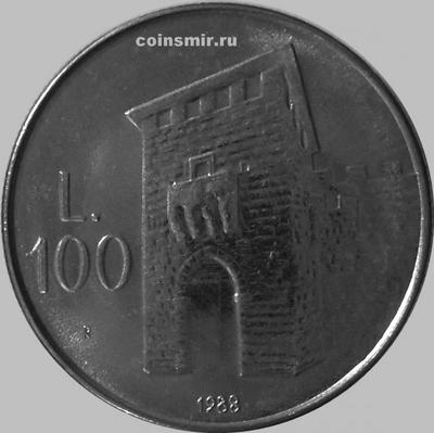 100 лир 1988 Сан-Марино.