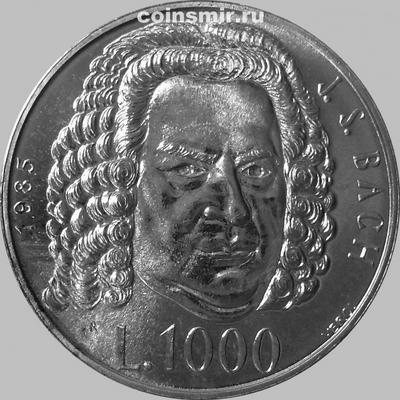 1000 лир 1985 Сан-Марино. Иоганн Себастьян Бах. 300 лет со дня рождения.