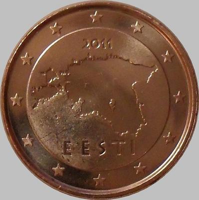 1 евроцент 2011 Эстония.
