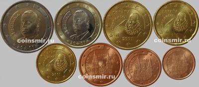 Набор евро монет 1999 - 2003 Испания.