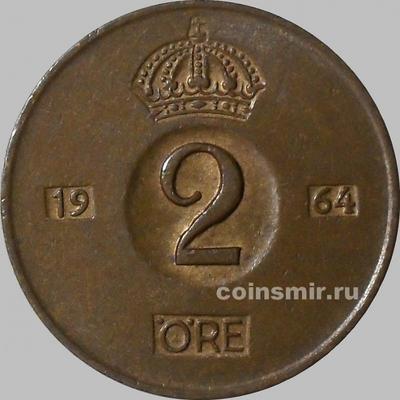 2 эре 1964 U Швеция.