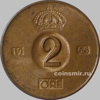 2 эре 1966 U Швеция.