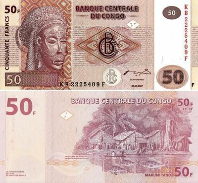 50 франков 2007 Конго.