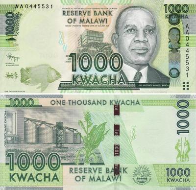 1000 квач 2012 Малави. (в наличии 2013 год)
