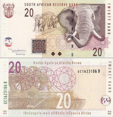 20 рандов 2005 Южная Африка.