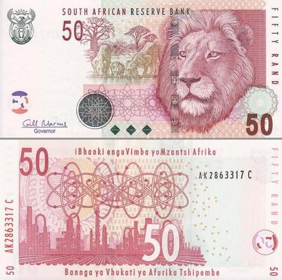 50 рандов 2005 Южная Африка.