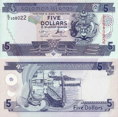 5 долларов 2006 Соломоновы острова.