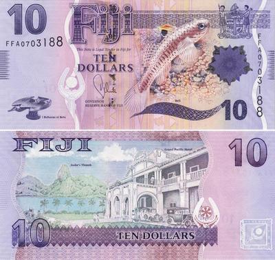 10 долларов 2013 Фиджи.