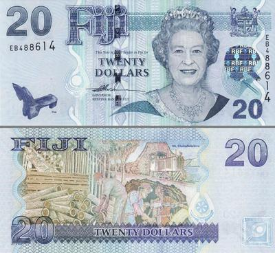20 долларов 2007 Фиджи.