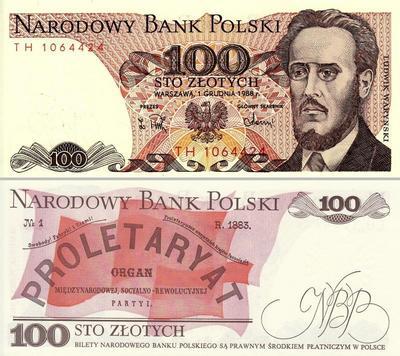 100 злотых 1988 Польша.