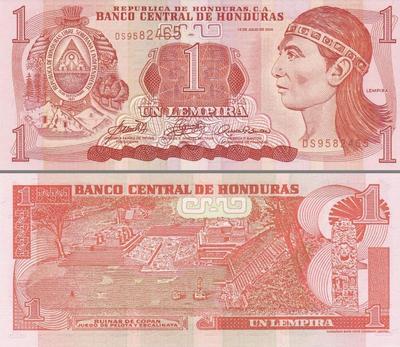 1 лемпир 2004 Гондурас. (в наличии 2010)
