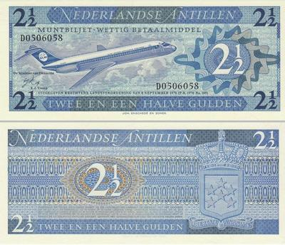 2 1/2 гульдена 1970 Нидерландские Антильские острова.