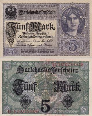 5 марок 1917 Германия.