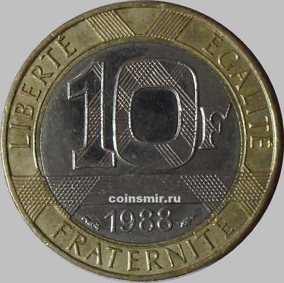 10 франков 1988 Франция.