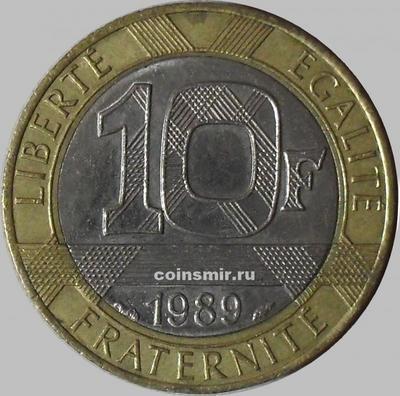 10 франков 1989 Франция.