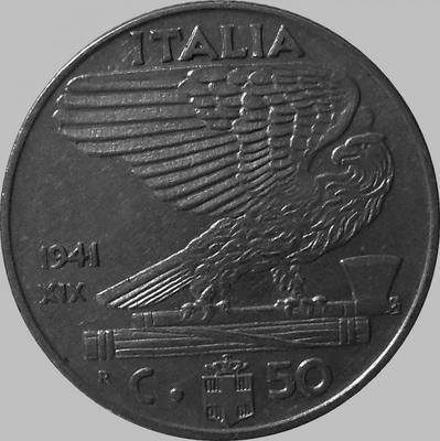 50 чентезимо 1941 Италия.