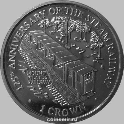 1 крона 1998 Остров Мэн. Гора Пилатус.