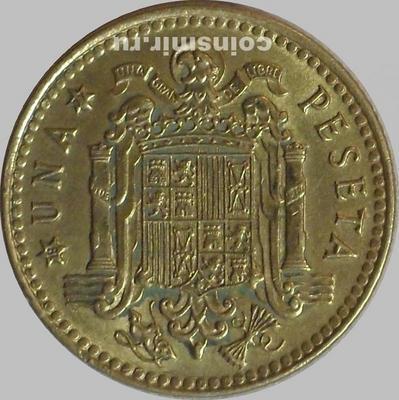 1 песета 1975 (1977) Испания.