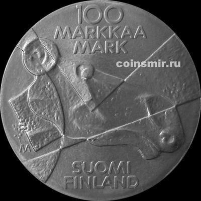 100 марок 1989 Финляндия. Изобразительное искусство Финляндии.