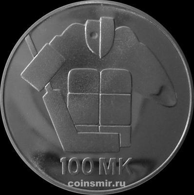 100 марок 1991 Финляндия. Чемпионат мира по хоккею.