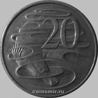 20 центов 1999 Австралия. Утконос.