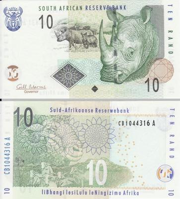 10 рандов 2009 Южная Африка.
