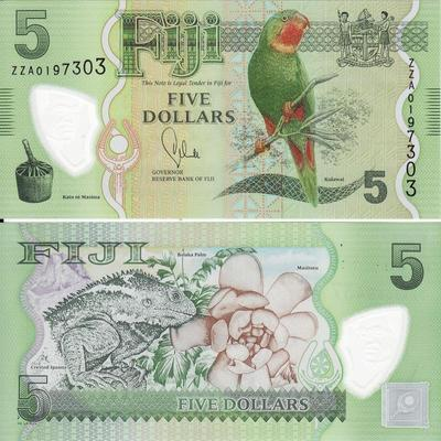 5 долларов 2012 Фиджи.
