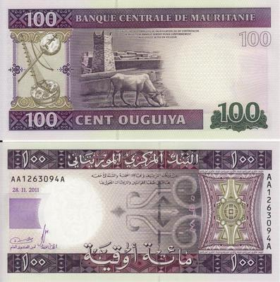 100 угий 2011 Мавритания.