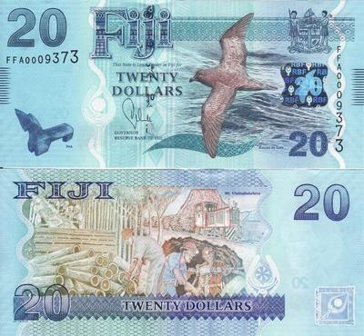20 долларов 2012 Фиджи.
