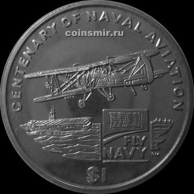 1 доллар 2009 Британские Виргинские острова. 100-летие Военно-Морской Авиации.