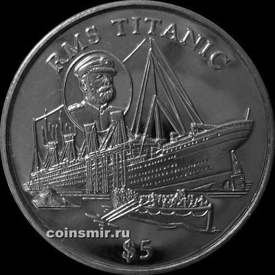 5 долларов 1998 Либерия. Титаник.