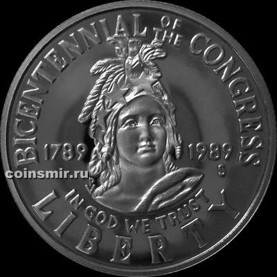 1/2 доллара 1989 S США. 200 лет Конгрессу.