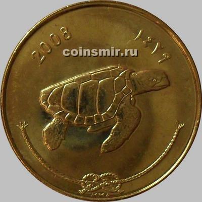 50 лари 2008 Мальдивы. Черепаха.