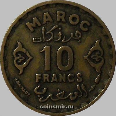 10 франков 1952 Марокко.