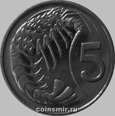 5 центов 2005 Каймановы острова. Креветка. (в наличии 2008 год)